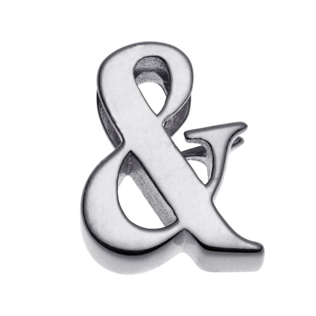 Initially Yours Sterling Silver Initial Charm - Ampersand