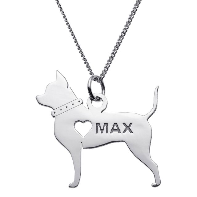 Sterling Silver Chihuahua Silhouette Necklace