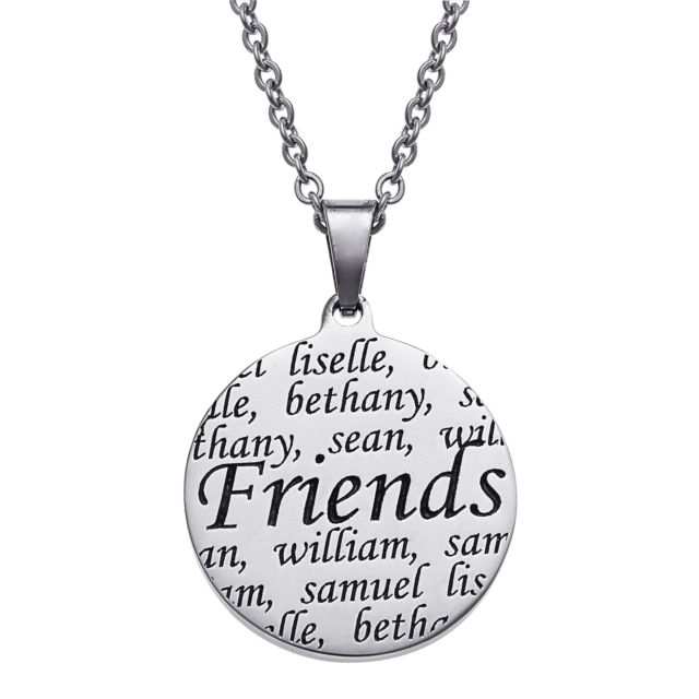 Personalized Everscribe Friends Engraved Name Necklace