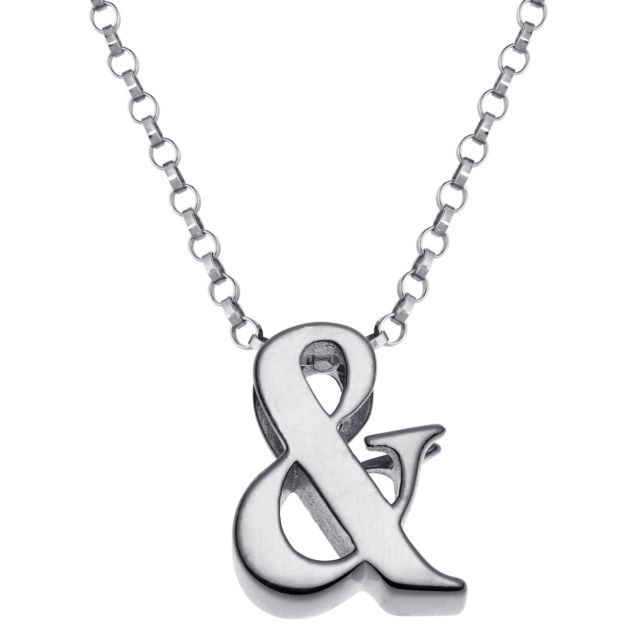 "Initially Yours Sterling Silver ""&"" Initial Pendant"