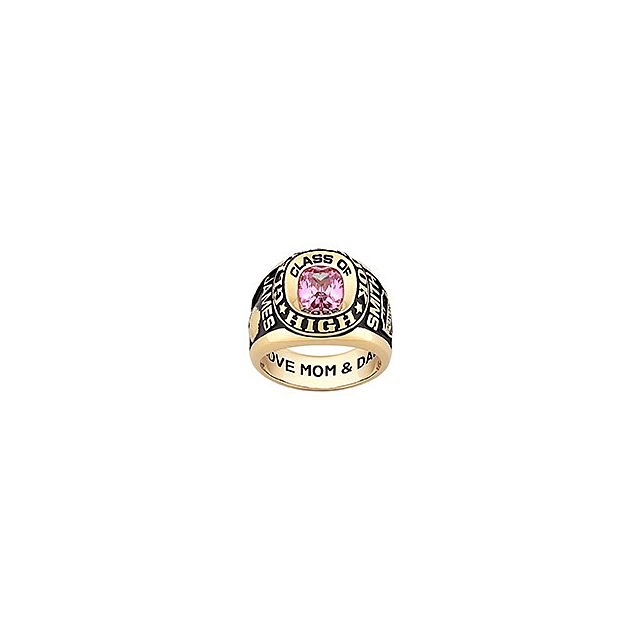 Men's Yellow CELEBRIUM Double Row Traditional Class Ring