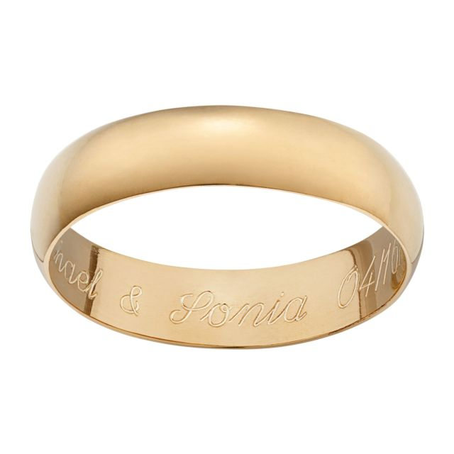 Engraved Message Ring in 18K Gold over Sterling