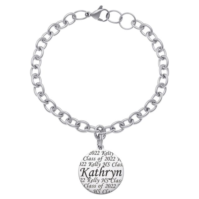 Everscribe Engraved Name Graduation Bracelet