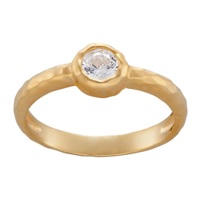 Sandra Magsamen 14K Gold over Sterling Stackable Birthstone Ring