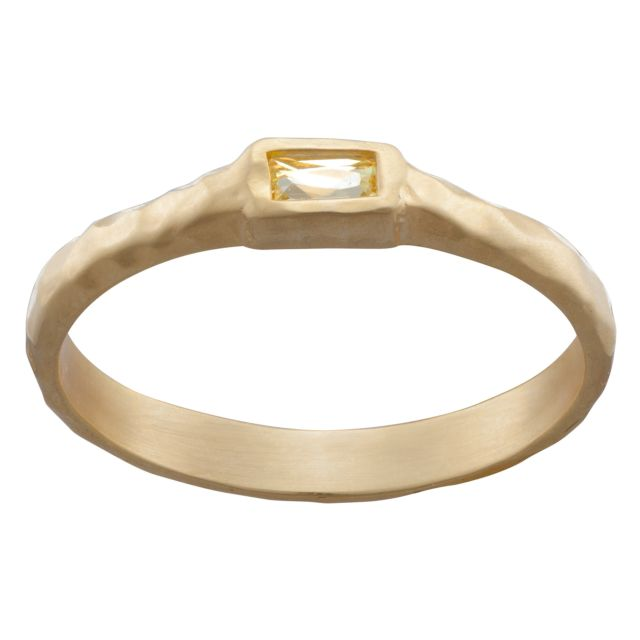 Sandra Magsamen Gold Over Sterling Petite Stackable Ring