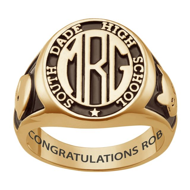 Men's Yellow CELEBRIUM Signet Oval Class Ring