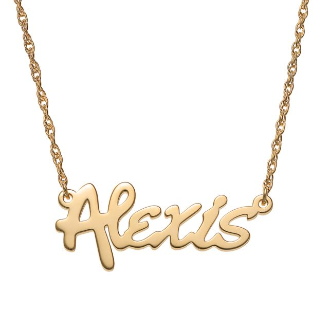 Gold Over Sterling Bold Name Necklace