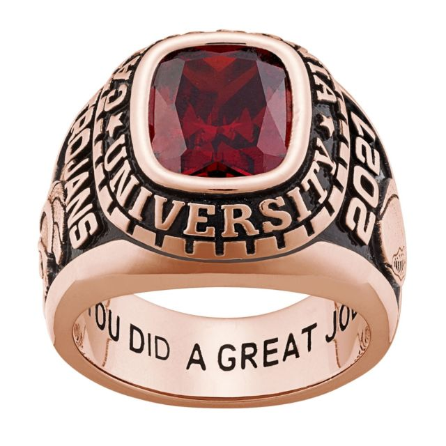 Men's Rose Gold CELEBRIUM Large Traditional Birthstone Class Ring