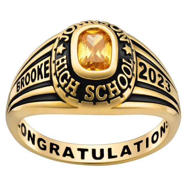 Ladies' Gold Over Celebrium Traditional Class Ring
