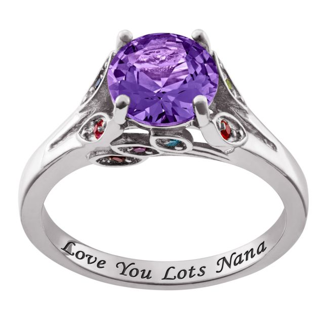 Personalized Mother's and Grandmother's Birthstone Ring