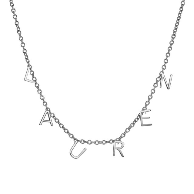 Silver Plated Dainty Name Choker