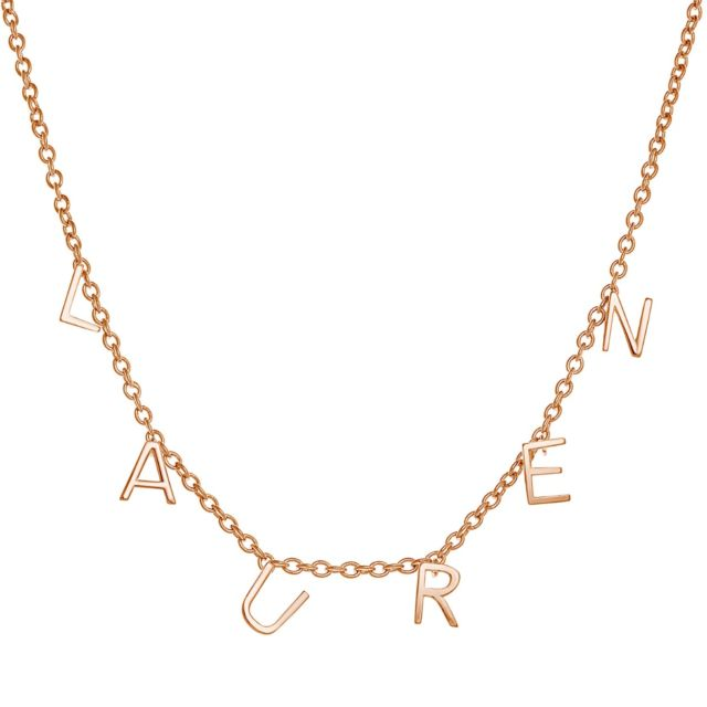 Rose Gold over Sterling Dainty Name Choker
